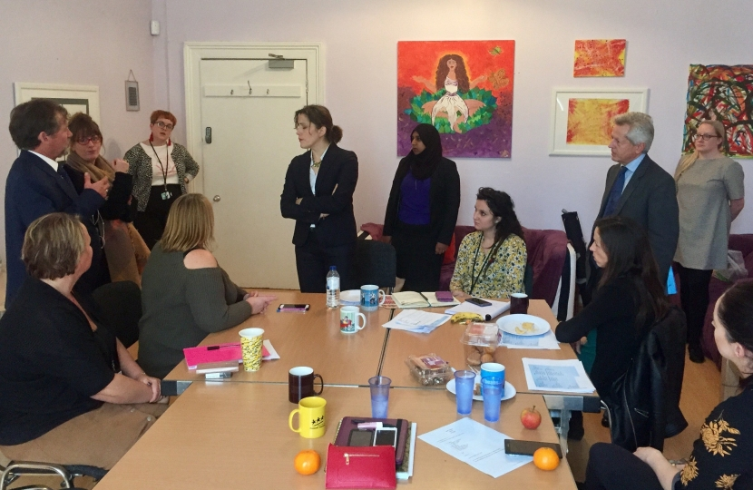 Minister Vicky Atkins meeting with local support services