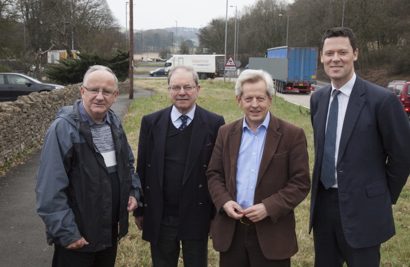 Gloucestershire MPs at A417 site